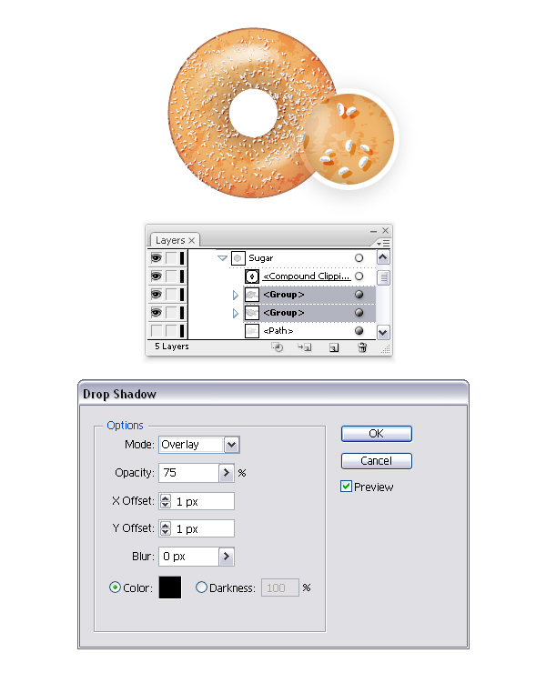 add sugar on donut 4
