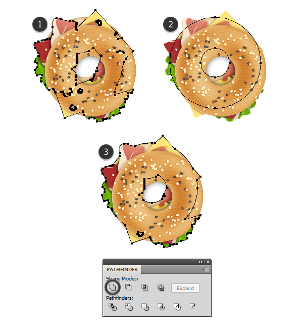 add shadow under the bagel 1