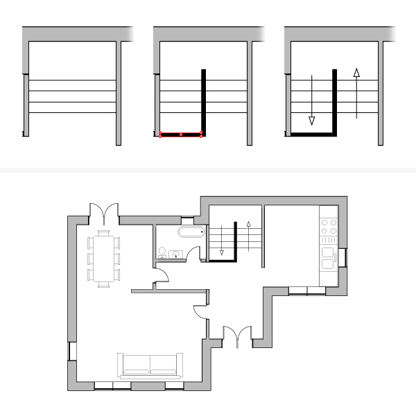 draw architectural house plan 12