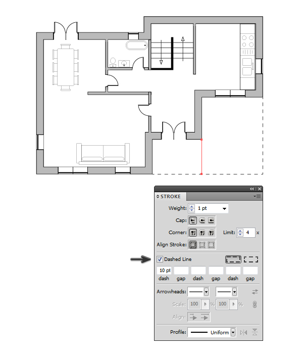 draw architectural house plan 13