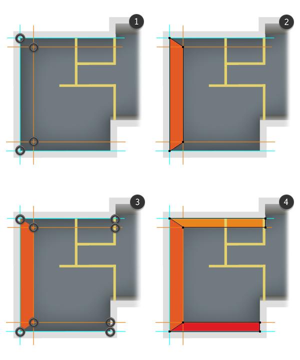 draw exterior walls 2