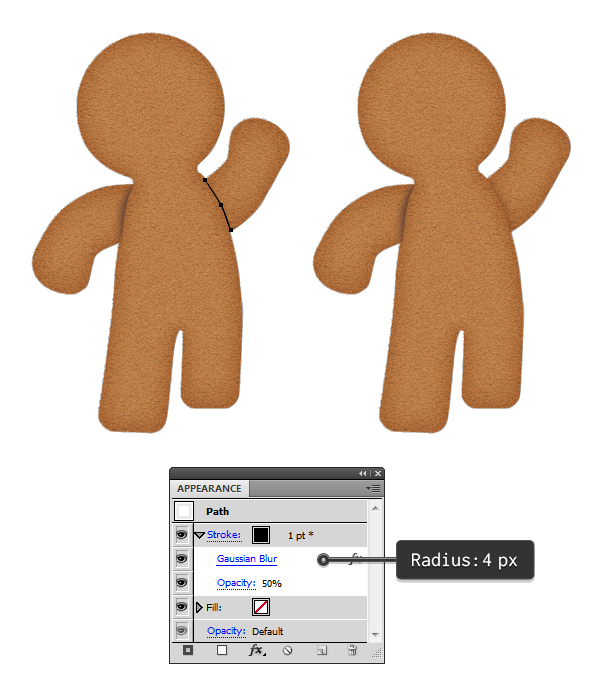 add shadow to gingerbread arms 3