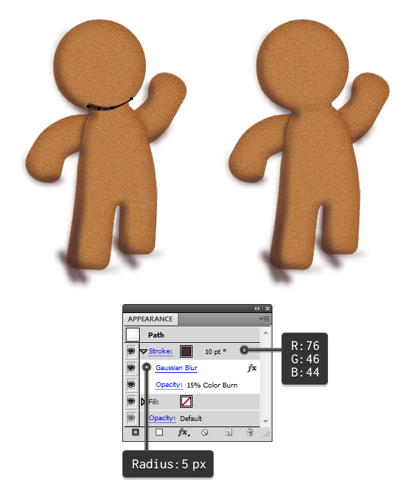 add shading to gingerbread man 3