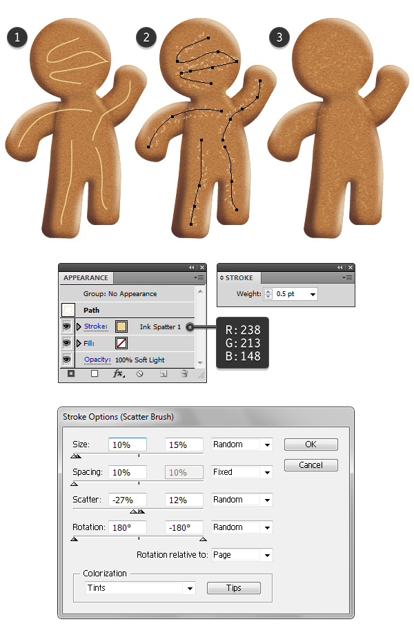 add details on gingerbread texture 1