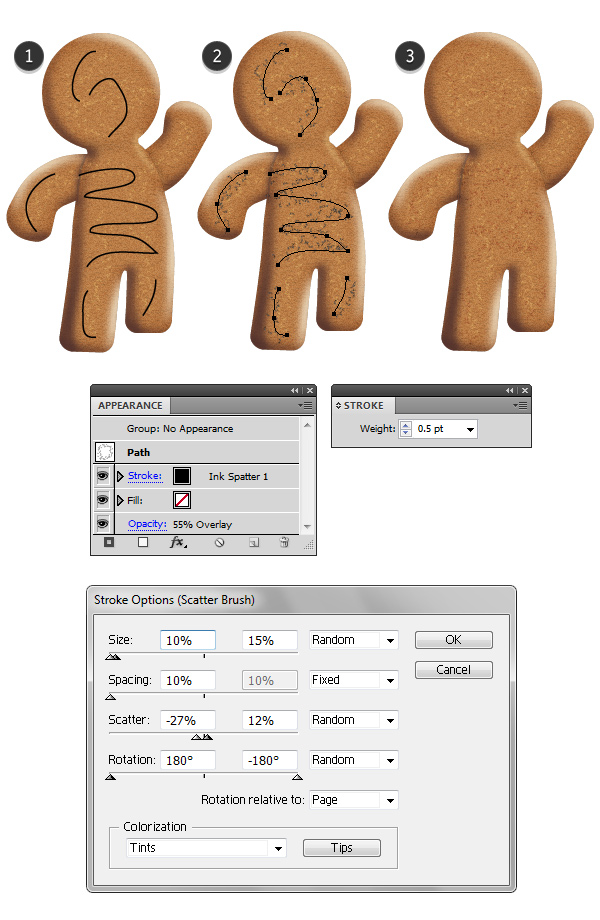 add details on gingerbread texture 2