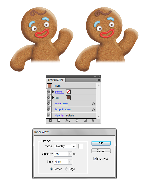 create gingerbread man hair 2