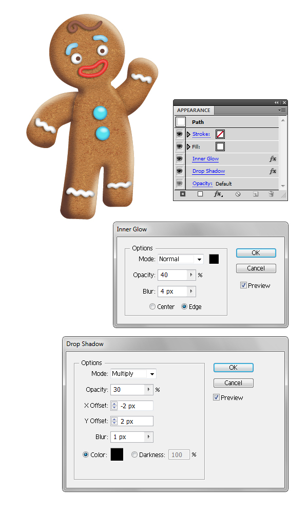 create icing on gingerbread man 2