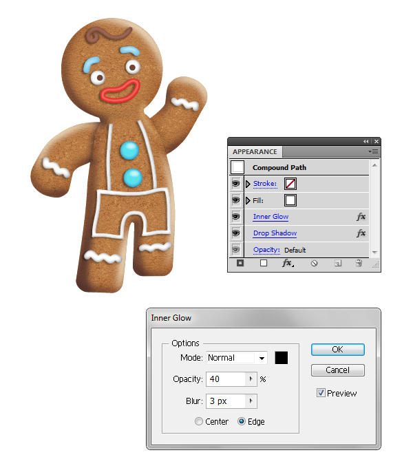 create icing on gingerbread man 4