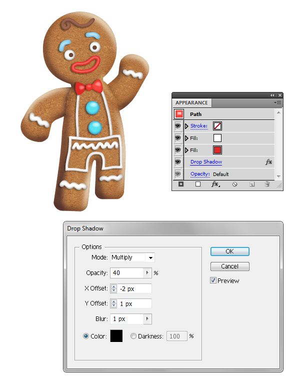 create gingerbread man bow tie 2