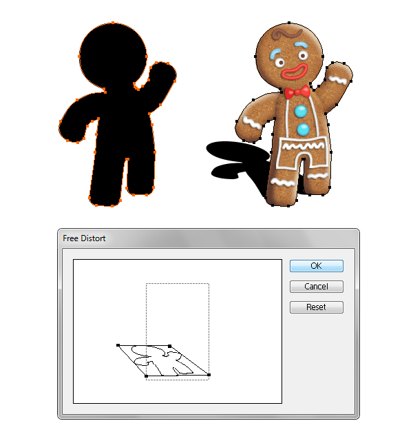 create gingerbread man shadow 1