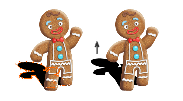 create gingerbread man shadow 2