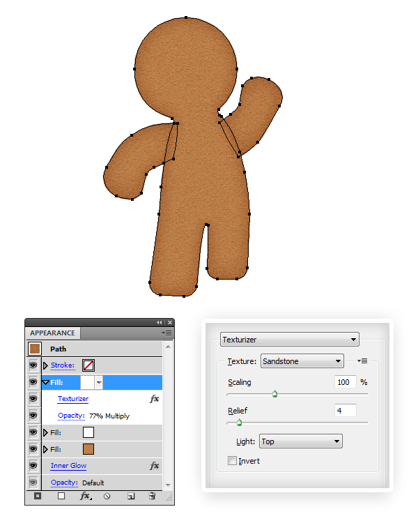 create gingerbread texture 3
