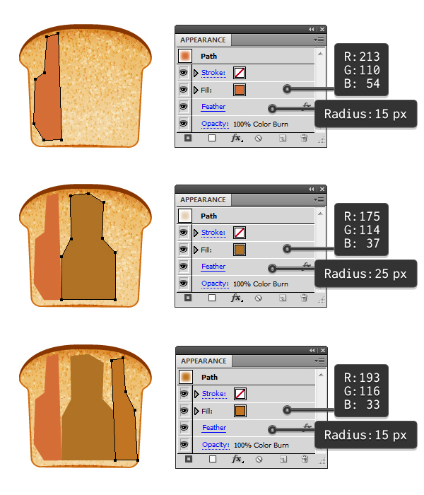 create toasted bread 1