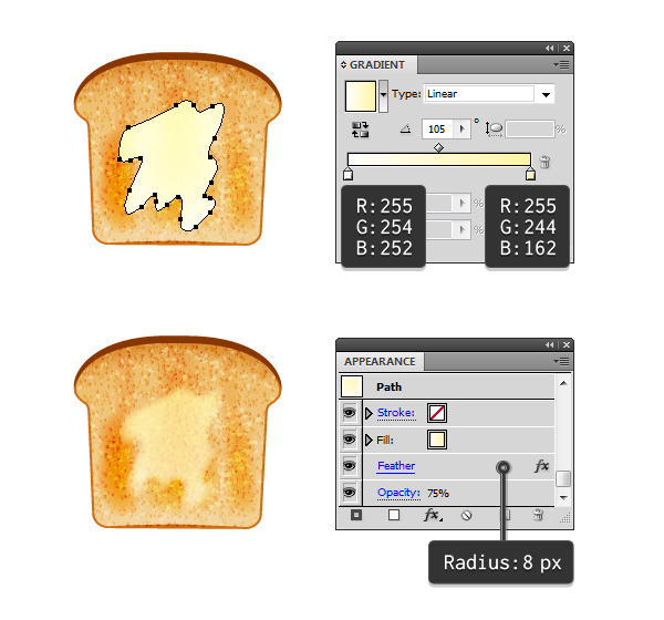 create melted butter on toast 1
