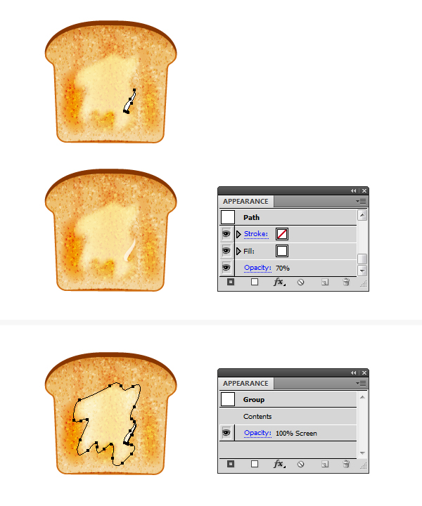 create melted butter on toast 2