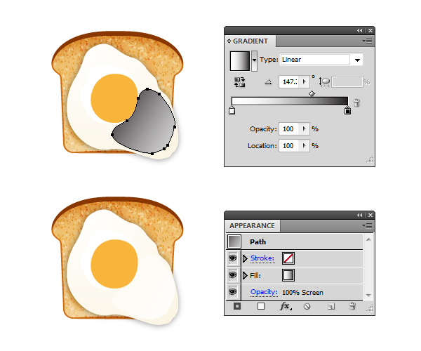 create fried egg on toast 3