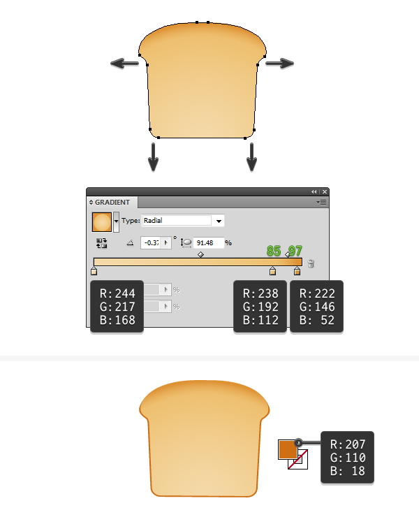 create vector toast icon 3