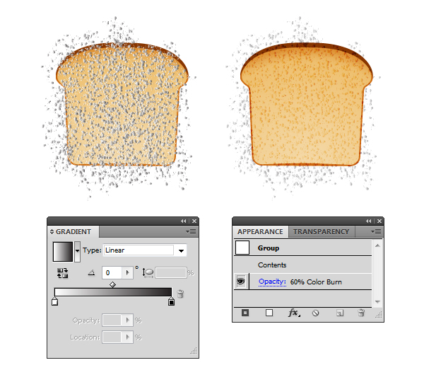 create vector bread texture 2