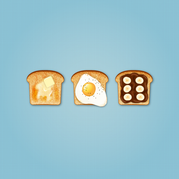 final image of vector toast icons