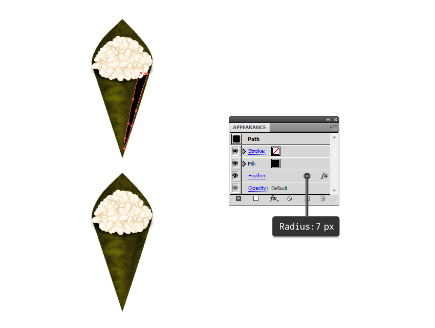 add shading to seaweed cone