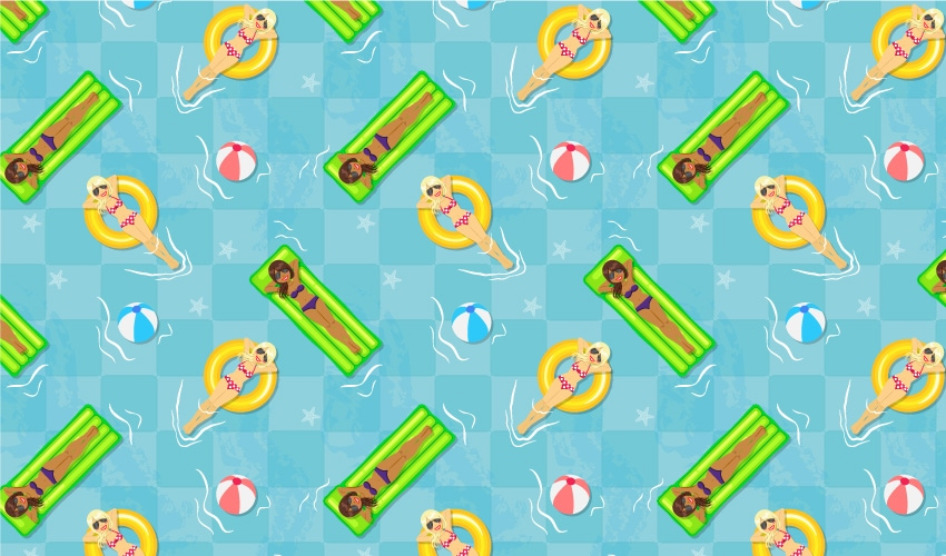 How to Create a Pool-Themed Seamless Pattern in Adobe Illustrator