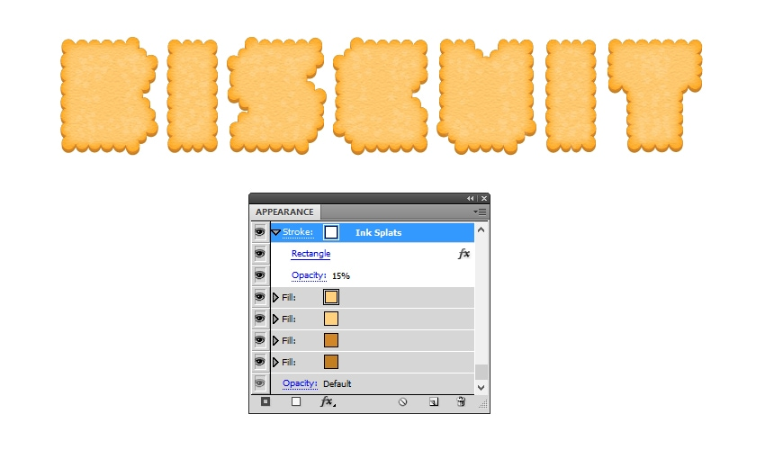 create texture on biscuit