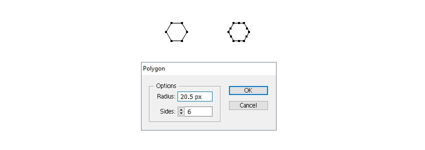 draw a hexagon