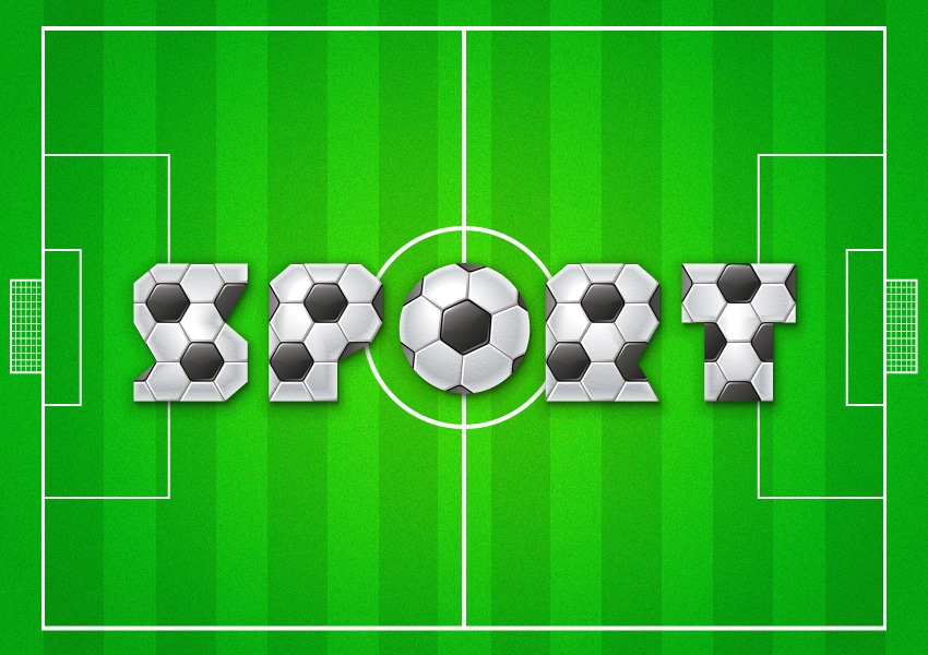football text effect final image