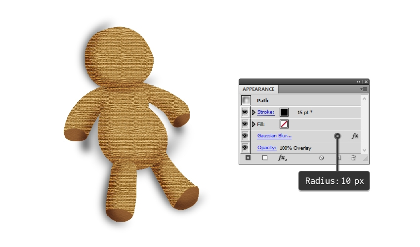create shading on the voodoo doll