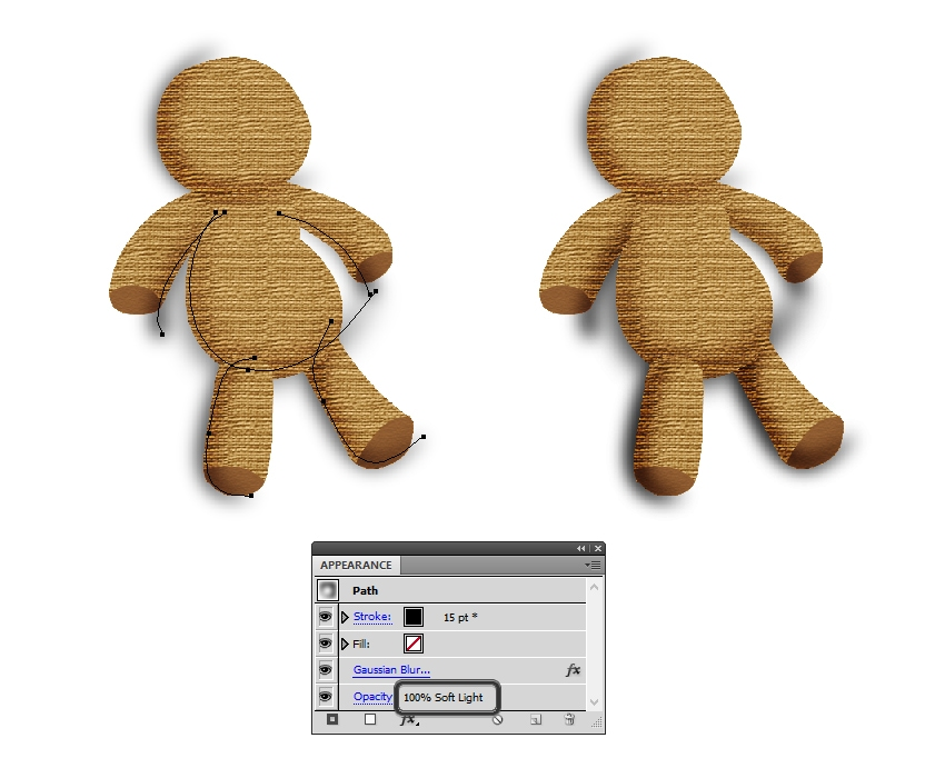 intensify shading on the voodoo doll
