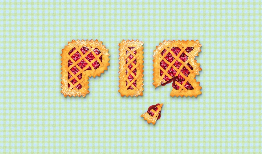 cherry pie text effect final image