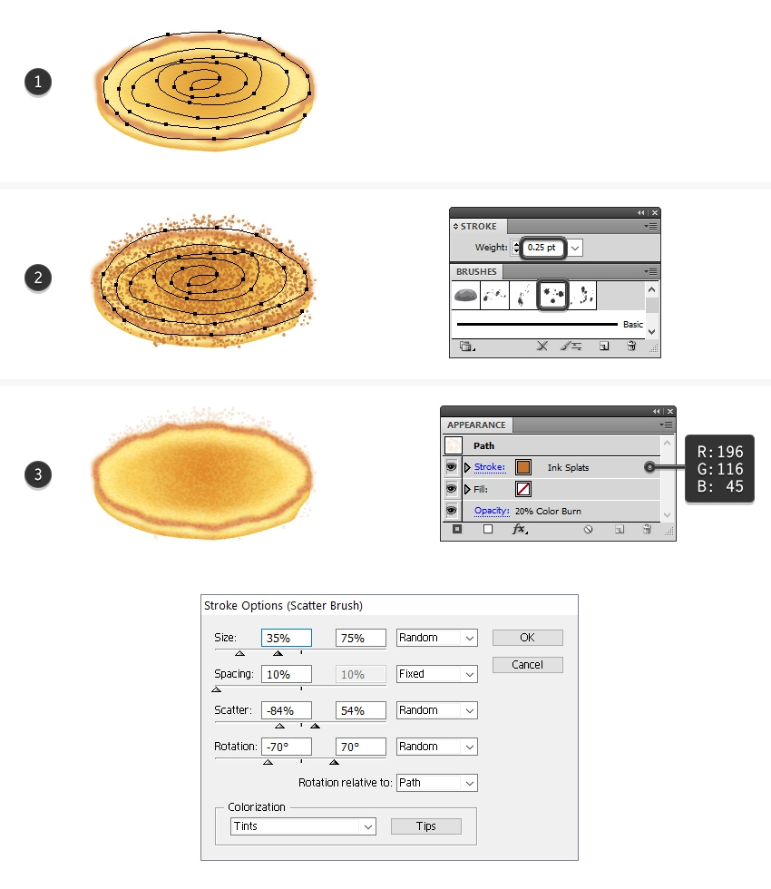 Yum! How to Create a Stack of Pancakes With Syrup in Adobe Illustrator