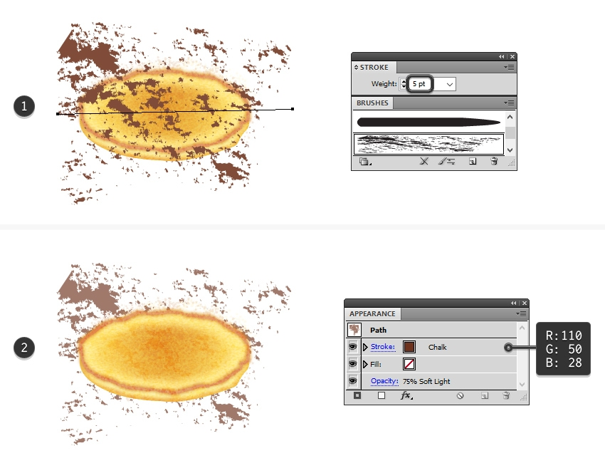 create browned texture on pancake top