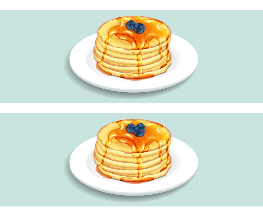 add more blueberries on pancakes