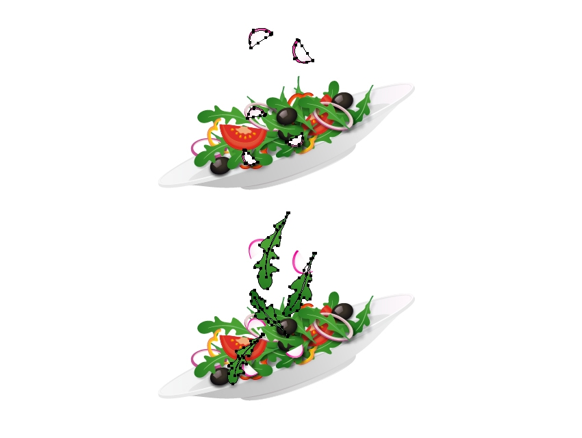 arrange radish slices on plate