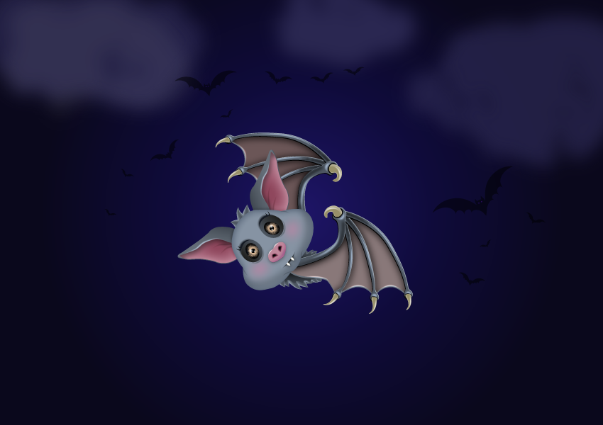 How to Draw a Cute Bat Character in Adobe Illustrator