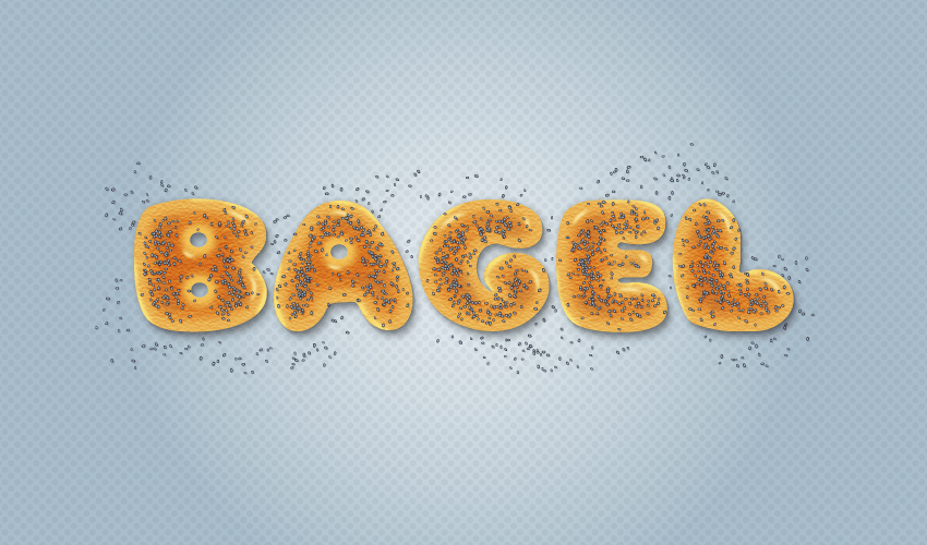 bagel text effect final image