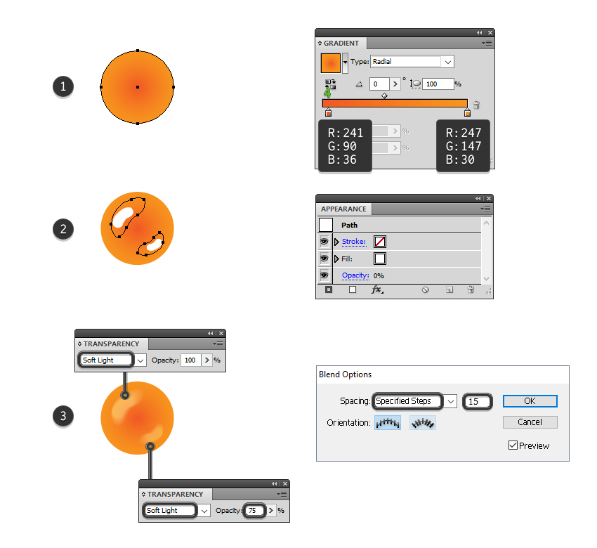 how to draw the orange candy