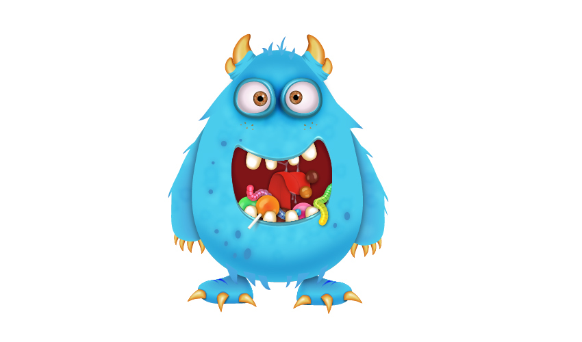 candy monster cartoon character