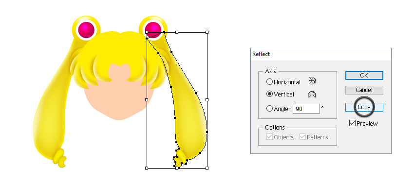 how to create sailor moons left ponytail