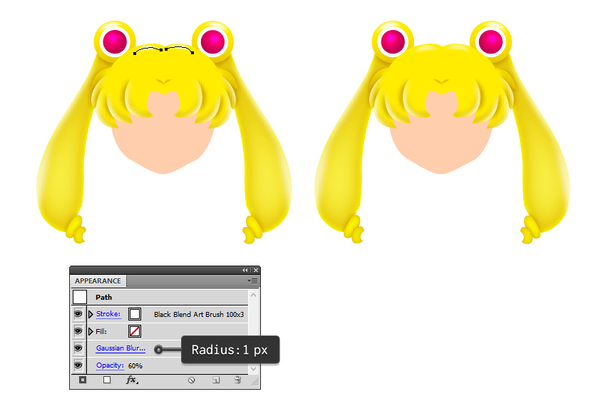 how to add shine to sailor moons hair
