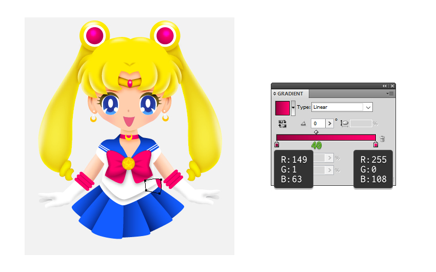 How to Draw Sailor Moon in Adobe Illustrator