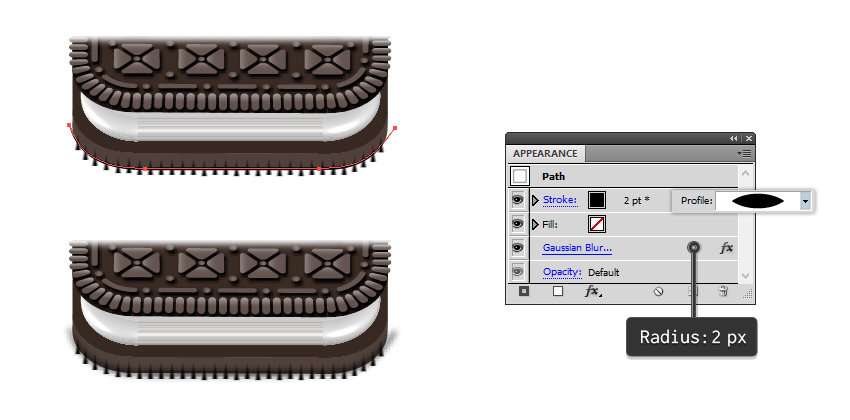 how to add shading to base Oreo biscuit