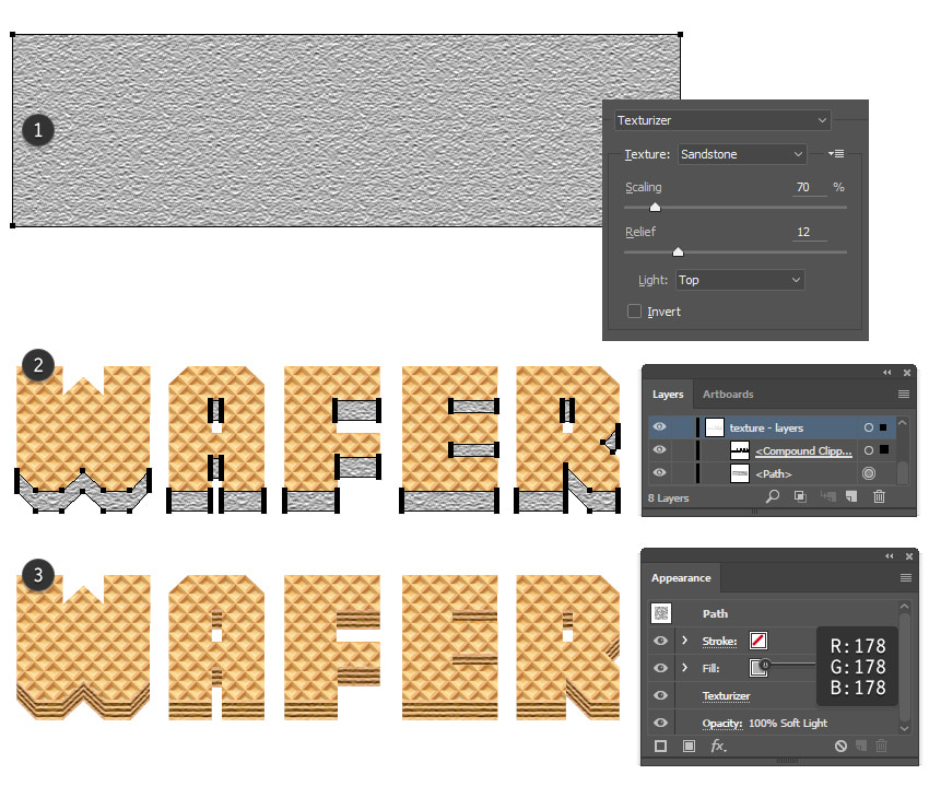 how to add mask to text illustrator