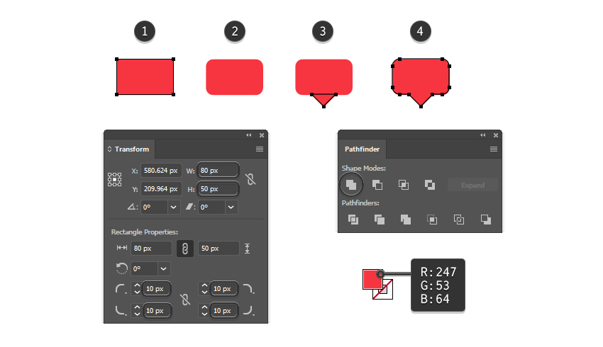 how to create the vector notification icon shape