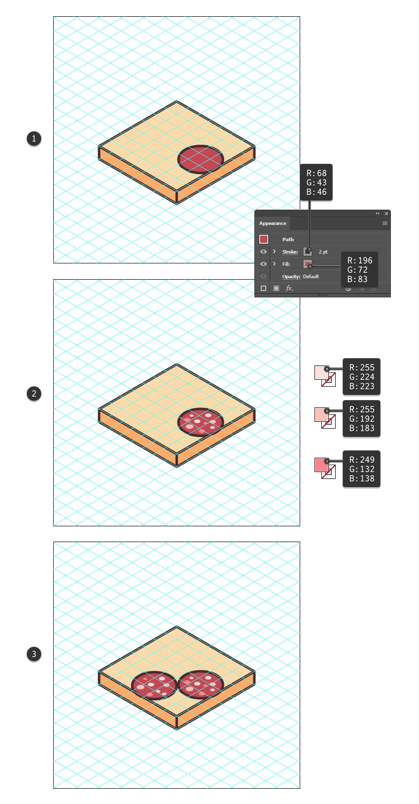 how to create the salami slice of the sandwich icon