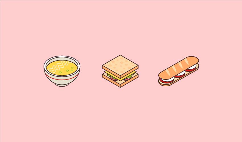 isometric art food icons final image