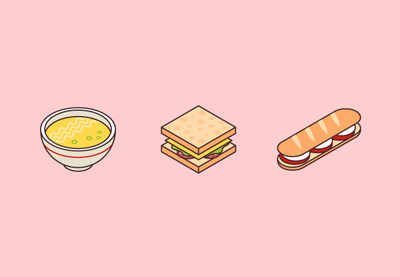 Diana isometric food icons tut image preview min