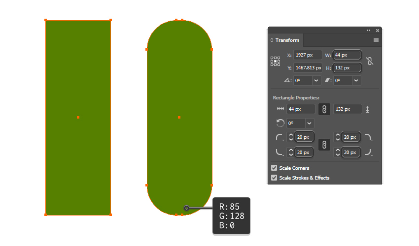 how to create the basic shape of the pickle pattern brush