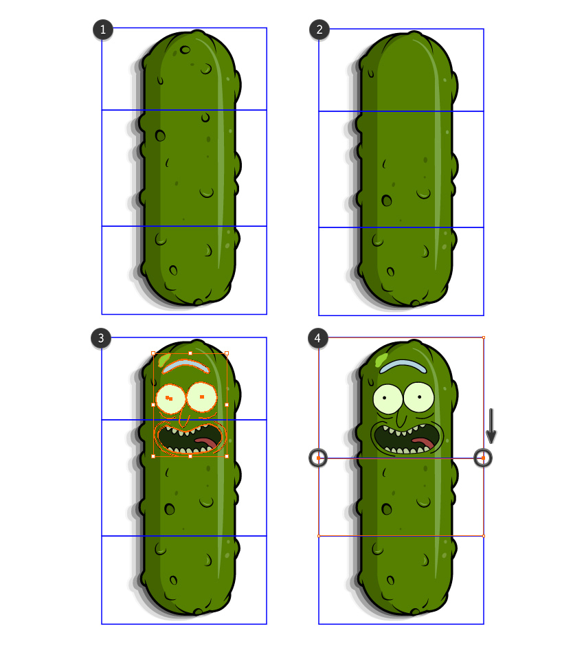 how to create the Pickle Rick pattern brush